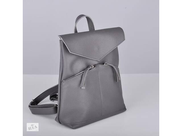бу Женская кожаная сумка-рюкзак Balance Dark серый JzzBL292610DG в Киеве