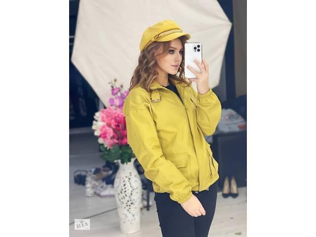 Женская куртка джинсовая горчица SKL11-289872