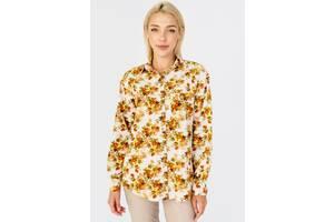 Женская рубашка со спущенным рукавом Bessa 2427-M в цветочный принт