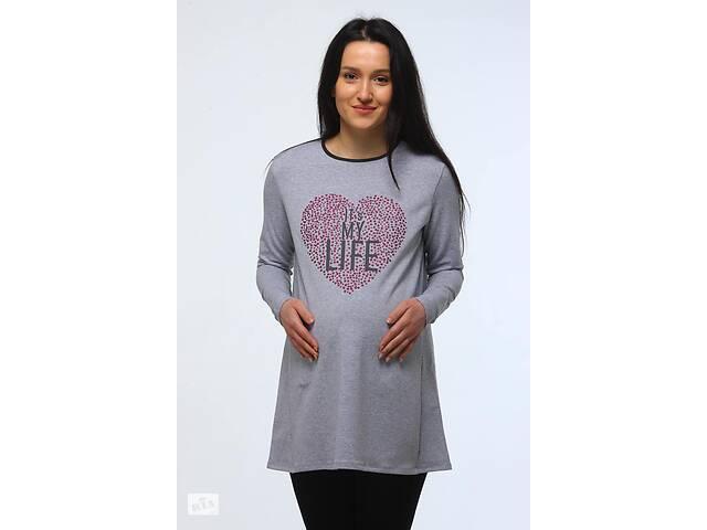 Женская туника Luna Style 50-52 серый меланж- объявление о продаже  в Киеве