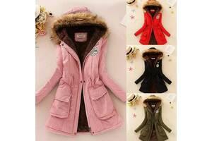 Женское утепленное пальто-куртка