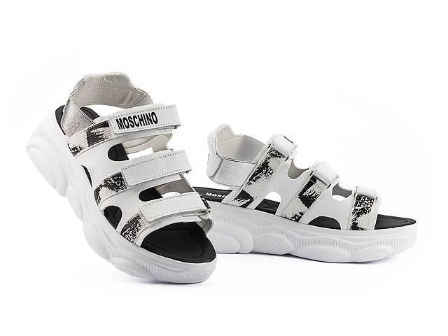 купить бу Женские босоножки кожаные летние белые Best Vak Moschino Л 67-06 White  в Украине
