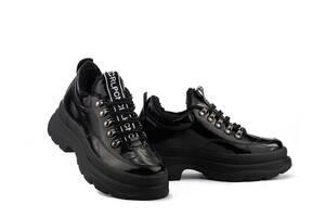 Женские ботинки кожаные зимние черные Carlo Pachini 4-4665/21-13