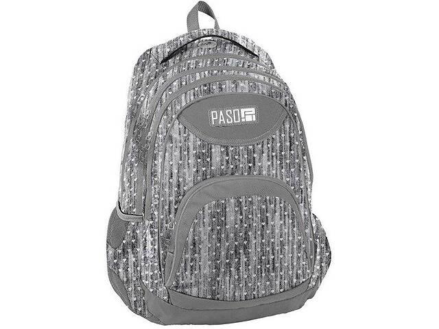 продам Женский городской рюкзак PASO 19L серого цвета PsPPMM19-270816 бу в Киеве