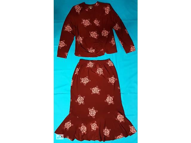 бу Женский костюм двойка - жакет, юбка, бордо в Одессе