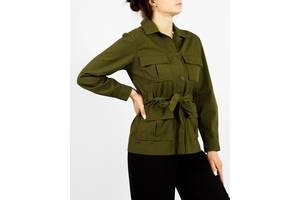 Женский зеленый молодежный жакет с карманами и поясом a new day (США) Размеры: XS, M, L, XL
