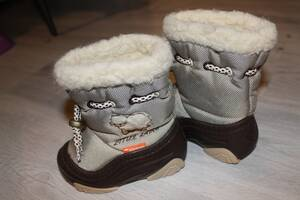 Зимние сапоги-дутики Демар, 20-21 р.с овечкой