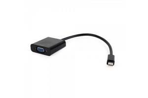 Адаптер Cablexpert (AB-mDPM-VGAF-02) MiniDisplayPort-VGA, 0.15м, черный