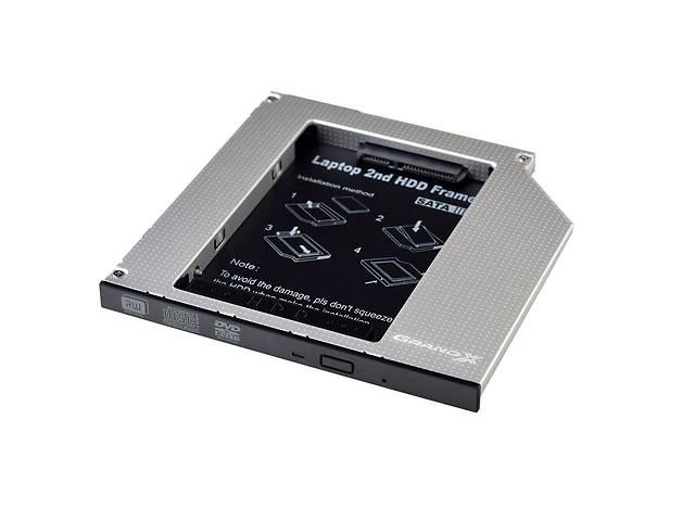 продам Адаптер Grand-X для подключения HDD 2.5 в отсек привода ноутбука SATA/SATA3 Slim 9.5мм (HDC-24) бу в Харькове