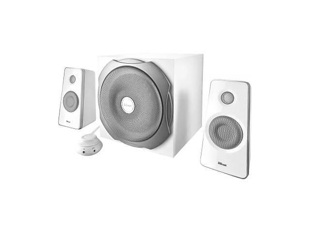 бу Акустическая система Trust Tytan 2.1 Subwoofer Speaker Set - white (18789) в Харькове