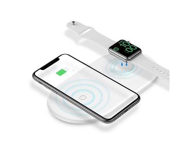 купить бу Беспроводное зарядное устройство Baseus WX2IN1 Smart 2in1 White в Запоріжжі