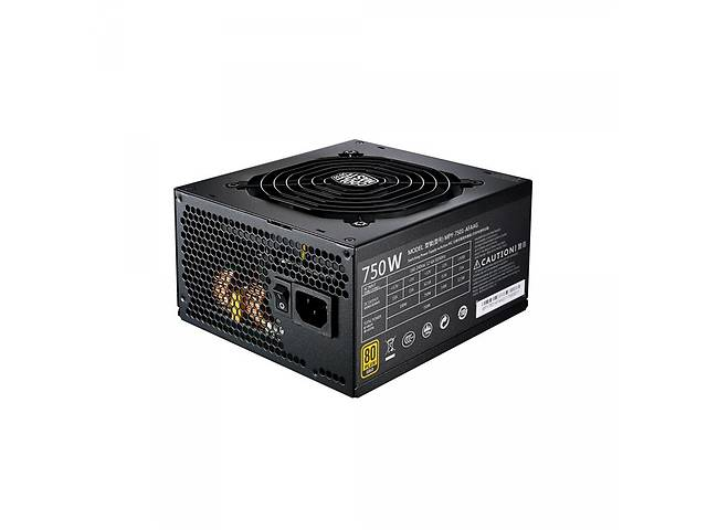 купить бу Блок питания CoolerMaster MWE Gold 750W (MPY-7501-AFAAG-EU) в Харькове