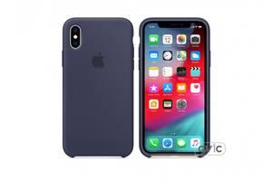 Чехол для Apple iPhone XS Silicone Case Midnight Blue (MRW92)