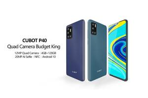 "Cubot P40 Black/Blue/Green NFC 6.2"", 4/128 Gb, 4200 mAh в наявності"