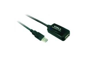 Дата кабель USB2.0 AM/AF 5.0m Wiretek (WK-XT205) подовжувач, USB 2.0, USB 2.0, 5 м