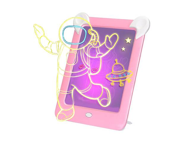 продам Детская магическая 3D доска для рисования с подсветкой Magic Board Drawing Pad Розовый (3699-11705) бу в Киеве
