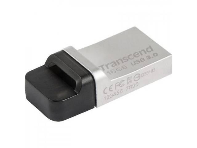 Флешка Transcend 16GB JetFlash OTG 880 Metal Silver USB 3.0 (TS16GJF880S)
