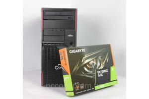 Fujitsu W410 4x ядерный CORE I5 2400 3.4GHz 8GB RAM 120GB SSD 500GB HDD + новая GeForce GTX1650 4GB