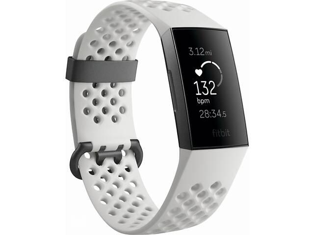 продам Фитнес-браслет с оптическим пульсометром Fitbit Charge 3 (white/graphite) бу в Полтаве