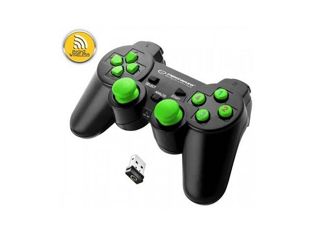 продам Геймпад Esperanza Gladiator PC/PS3 Black-Green (EGG108G) бу в Киеве