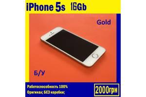 IPhone 5s 16Gb gold Б/У-Состояние-Супер Оригинал Неверлок айфон 5ска