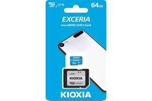 КАРТА ПАМЯТИ KIOXIA EXCERIA MICROSDXC UHS-I 64GB CLASS10+SD