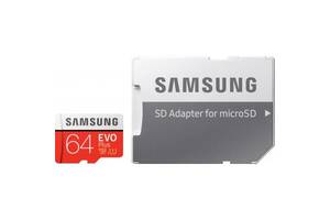 Карта памяти Samsung 64GB microSDXC class 10 UHS-I U1 Evo Plus V2 (MB-MC64HA/RU)