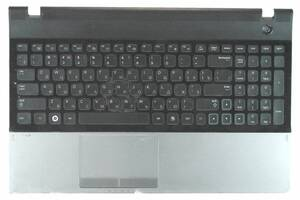 Клавиатура для ноутбука Samsung (300E5A) Black, с топ панелью (Black), RU