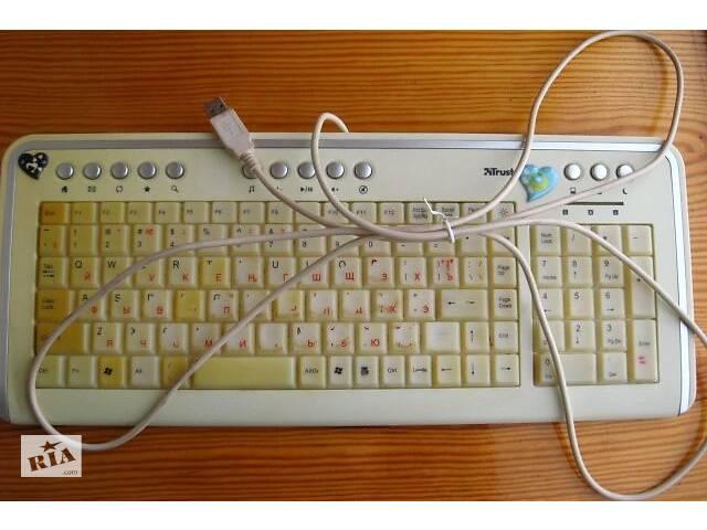 купить бу Клавиатура мультимедиа слим подсветка юсб. торг в Запорожье