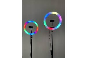Кільцеві лампи RGB (15 кольорів) 26 см + штатив
