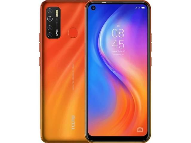 продам Мобильный телефон TECNO KD7 (Spark 5 Pro 4/128Gb) Spark Orange (4895180760280) бу в Киеве