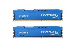 Модуль памяти для компьютера DDR3 8Gb (2x4GB) 1600 MHz HyperX Fury Blu HyperX (Kingston Fury) (HX316C10FK2/8)