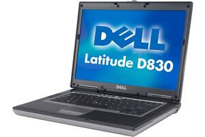 Ноутбук Dell Latitude D830 15.4& amp; # 34; (Core2Duo 2.0 ГГц, 4 ГБ оперативної пам'яті, DVD-RW, Windows 7)