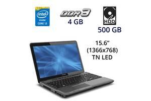 "Ноутбук Toshiba Satellite P755-S5320 / 15.6"" (1366x768) TN LED / Intel Core i3-2330M (2 (4) ядра по 2.2 GHz) / 4 GB D..."