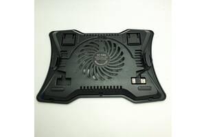 "Охлаждающая подставка для ноутбука N133 до 15"" 1 вентилятор LED подсветка черный"