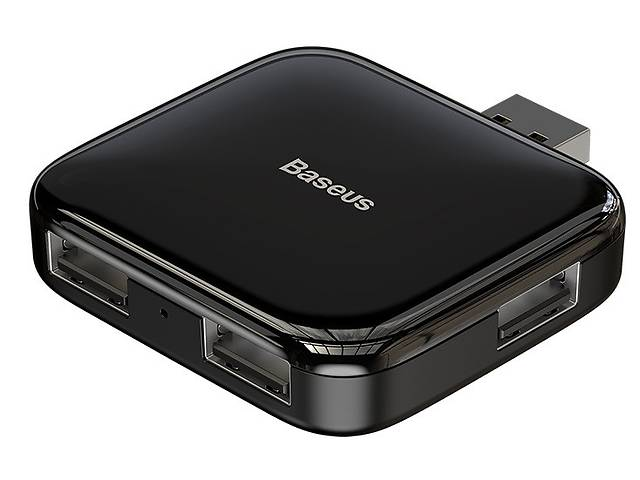 купить бу Переходник HUB хаб адаптер Baseus USB Fully folded portable 4USB Черный (gr_011866) в Киеве