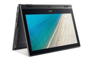 "Ноутбук-трансформер Acer TravelMate Spin (TMB118-RN-C7BL) / 11.6"" (1366х768) Touch IPS / Intel Celeron N3450 (4 ядра..."