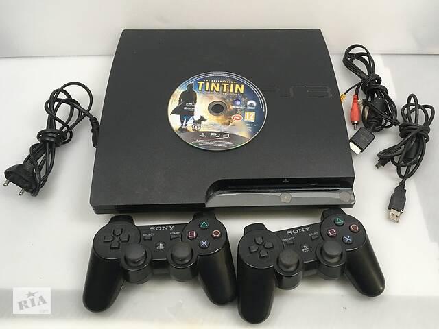 бу PlayStation 3 Slim CECH-2508A 160GB с двумя Геймпадами в Киеве