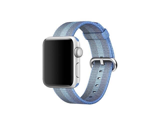 купить бу Ремешок для часов Apple Watch 42 мм 44 мм нейлоновый с пряжкой, Blue with light blue в Запорожье