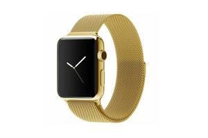 Ремешок для часов Milanese loop steel bracelet Apple watch, 42-44 мм. Gold