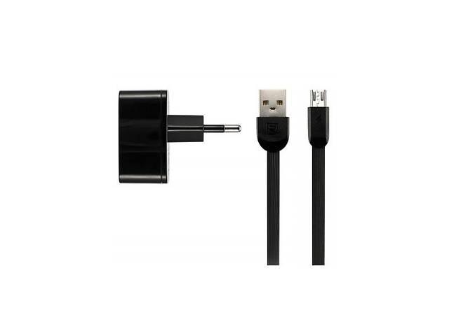 Сетевое зарядное устройство Remax 2.4 A Dual USB Charger + Data Cable for Type-C black (RP-U215A-BLACK)- объявление о продаже  в Харкові