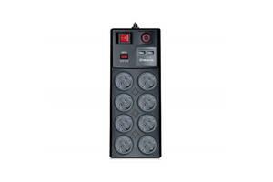 Сетевой фильтр питания REAL-EL RS-8F USB CHARGE 3m, black (EL122300004)