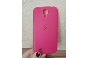 Силиконовый чехол для Samsung Galaxy S4 i9500 прорезиненный Baseus розовый