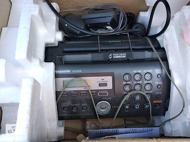 продам Телефон-факс Panasonic KX-FC 253UA с DECT трубкой бу в Киеве