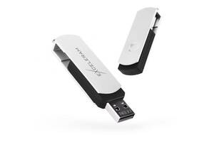 USB флеш накопитель eXceleram 64GB P2 Series White/Black USB 2.0 (EXP2U2WH2B64)