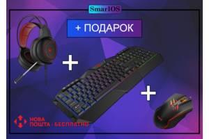 Игровой Набор HAVIT Клавиатура Мышка Наушники с Подсветкой