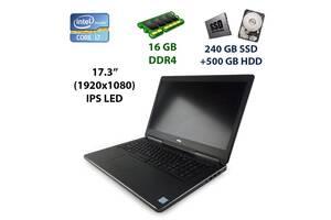 """Игровой ноутбук Dell Precision 7710 / 17.3"""" (1920x1080) IPS LED / Intel Core i7-6820HQ (4 (8) ядра по 2.7 - 3.6 GHz)..."""