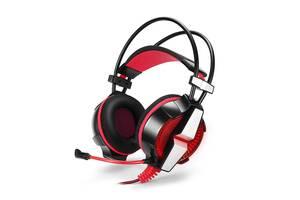 Ігрові навушники KOTION GS700 дротова гарнітура Чорний + Червоний (4892-15608a)