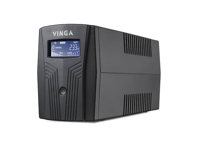 купить бу Источник бесперебойного питания Vinga LCD 600VA plastic case with USB+RJ11 (VPC-600PU) в Харькове