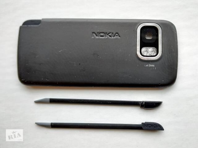 купить бу Задняя панель + стилус (2 шт.) От Nokia 5800 (оригинальные) в Киеве